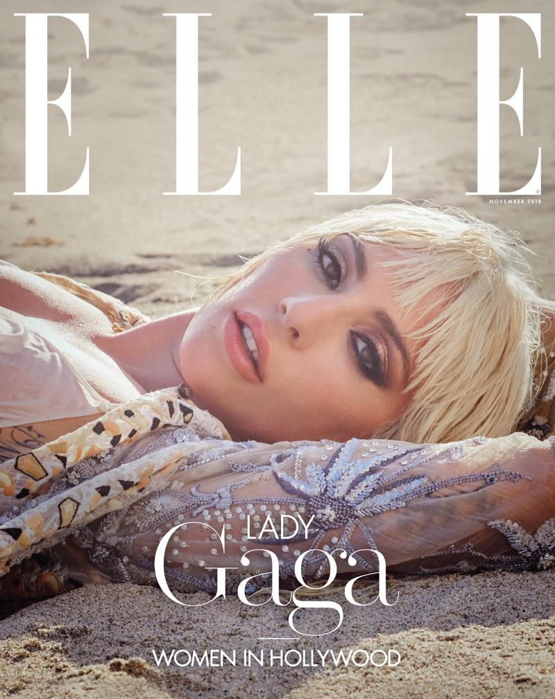 Lady Gaga on ELLE US November 2018 Cover
