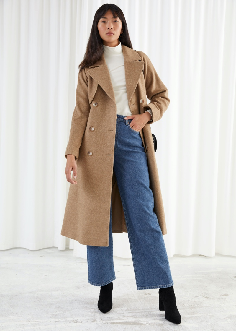 & Other Stories Belted Trench Coat $279