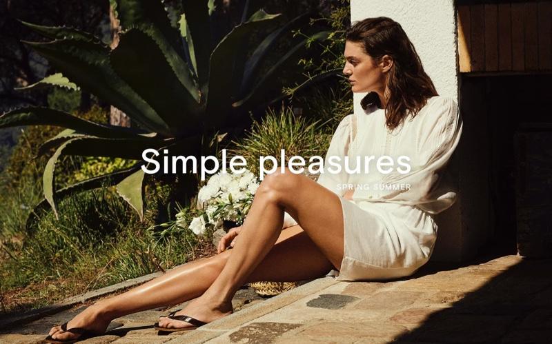 Marina Perez Poses in Massimo Dutti's Summer Styles