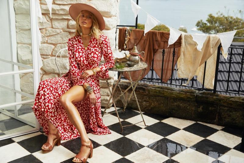 Victoria Germyn Models Retro Prints in Mister Zimi Casa Campaign