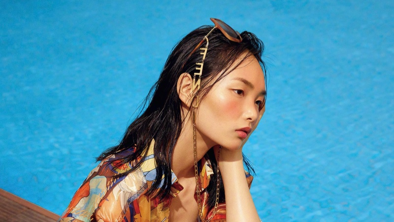 Ling Chen Dives Into Summer Looks for Vogue China