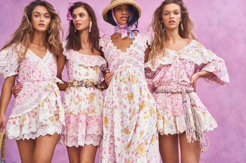 Dasha, Austria, Victoria, Clare Pose in LoveShackFancy Summer 2020 Dresses