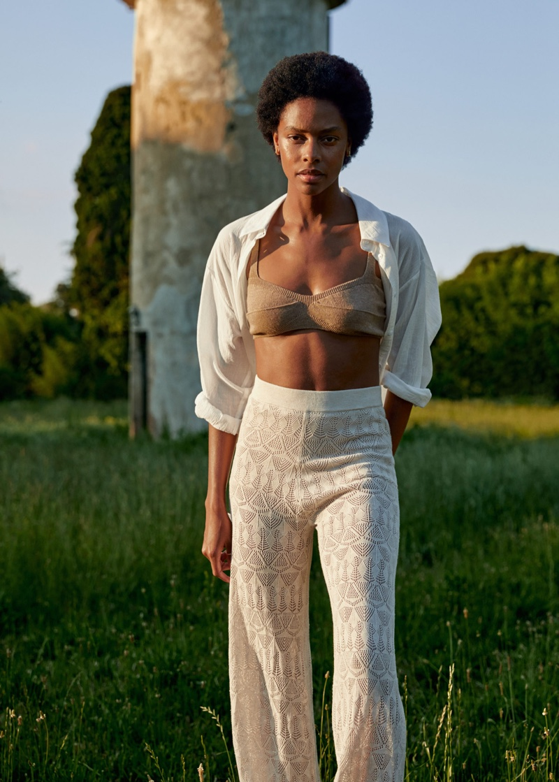 Karly Loyce Models Mango's Relaxed Holiday Styles