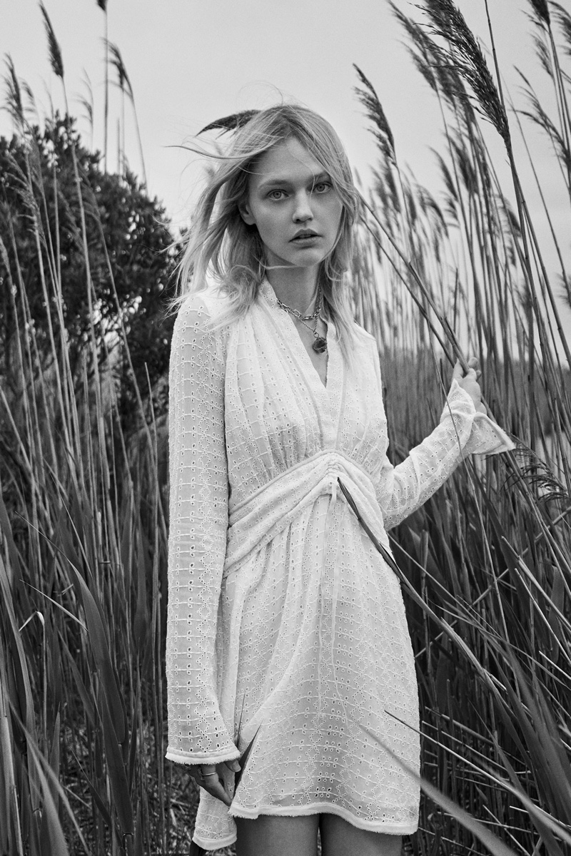 Zara Limited Edition Embroidered Eyelet Dress.