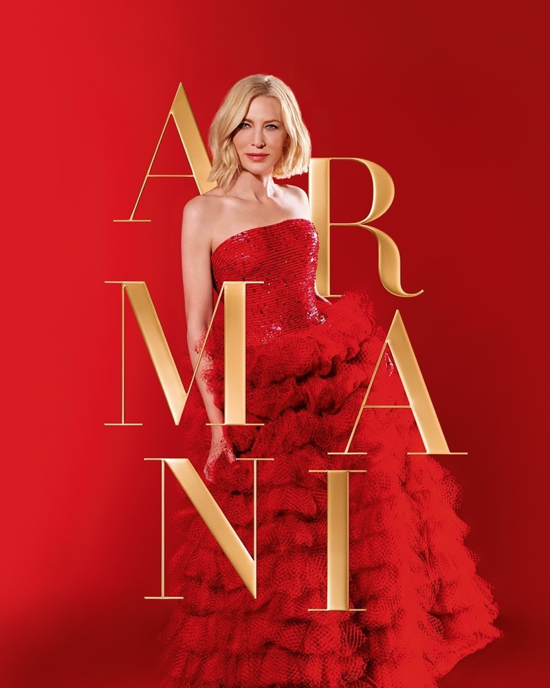 Cate Blanchett stars in Armani Si fragrance Holiday 2020 campaign.