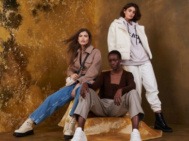 Taylor, Valentina, Michele Are On-Trend in Topshop Christmas 2020 Campaign