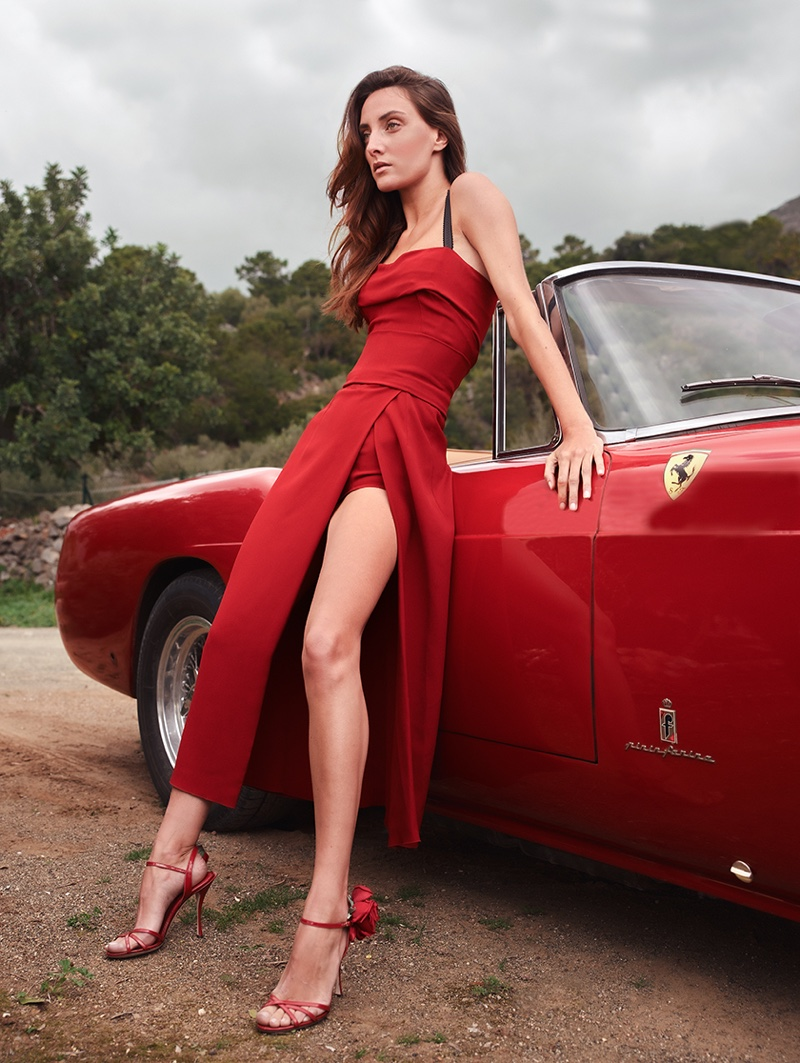 Alba Casete Looks Red-Hot for InStyle Spain
