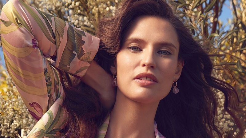 Bianca Balti Models Outdoors in Yamamay's Sustainable Lingerie