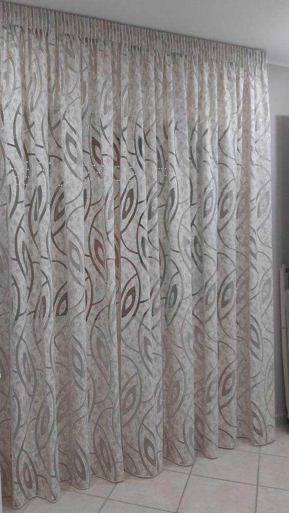 Tenda per doccia con disegno floreale, stile minimalista nordico, tessuti peva impermeabile e antimuffa, tendina vasca da bagno con 12 anelli per la doccia 120. Fhp 02308 Tende A Metraggio Fashion Home Pagano Tessuto Per Tenda Al Metro In Devore Beige Altezza 300 Cm