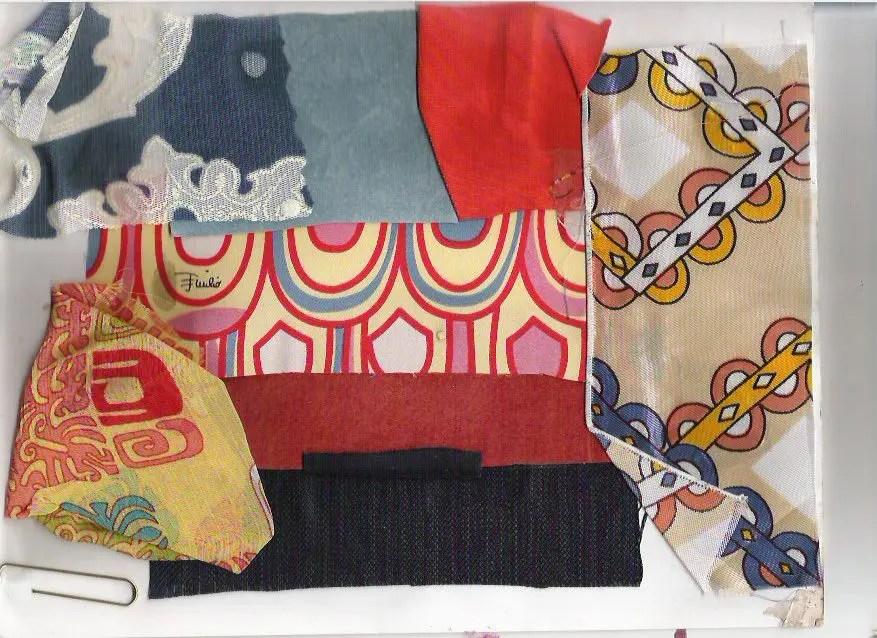 Laura Volpintesta, fashion design fabric concept board