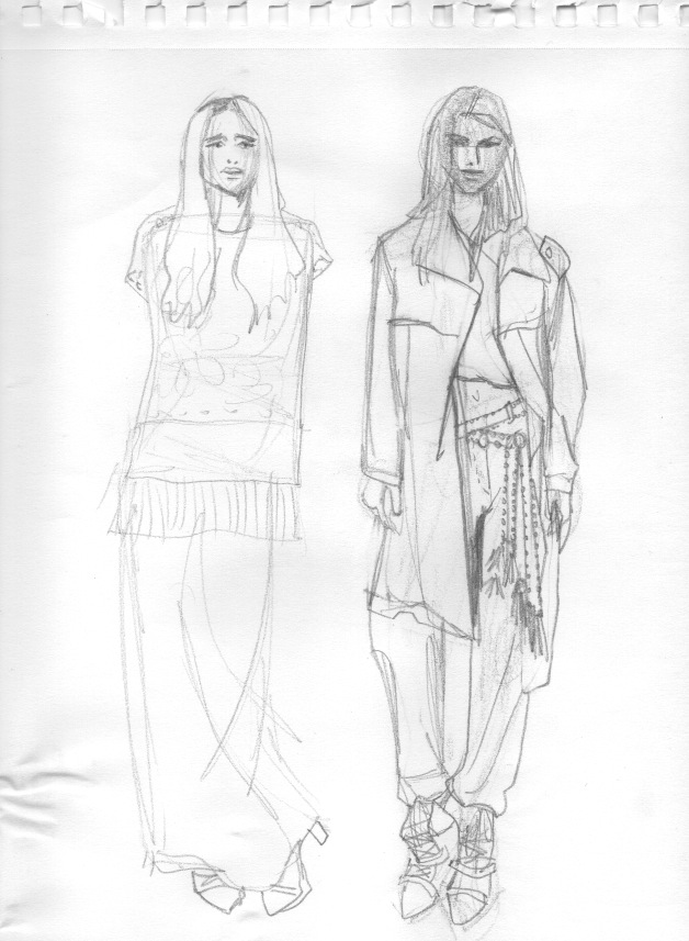 Why do fashion models and illustrations look like they do???