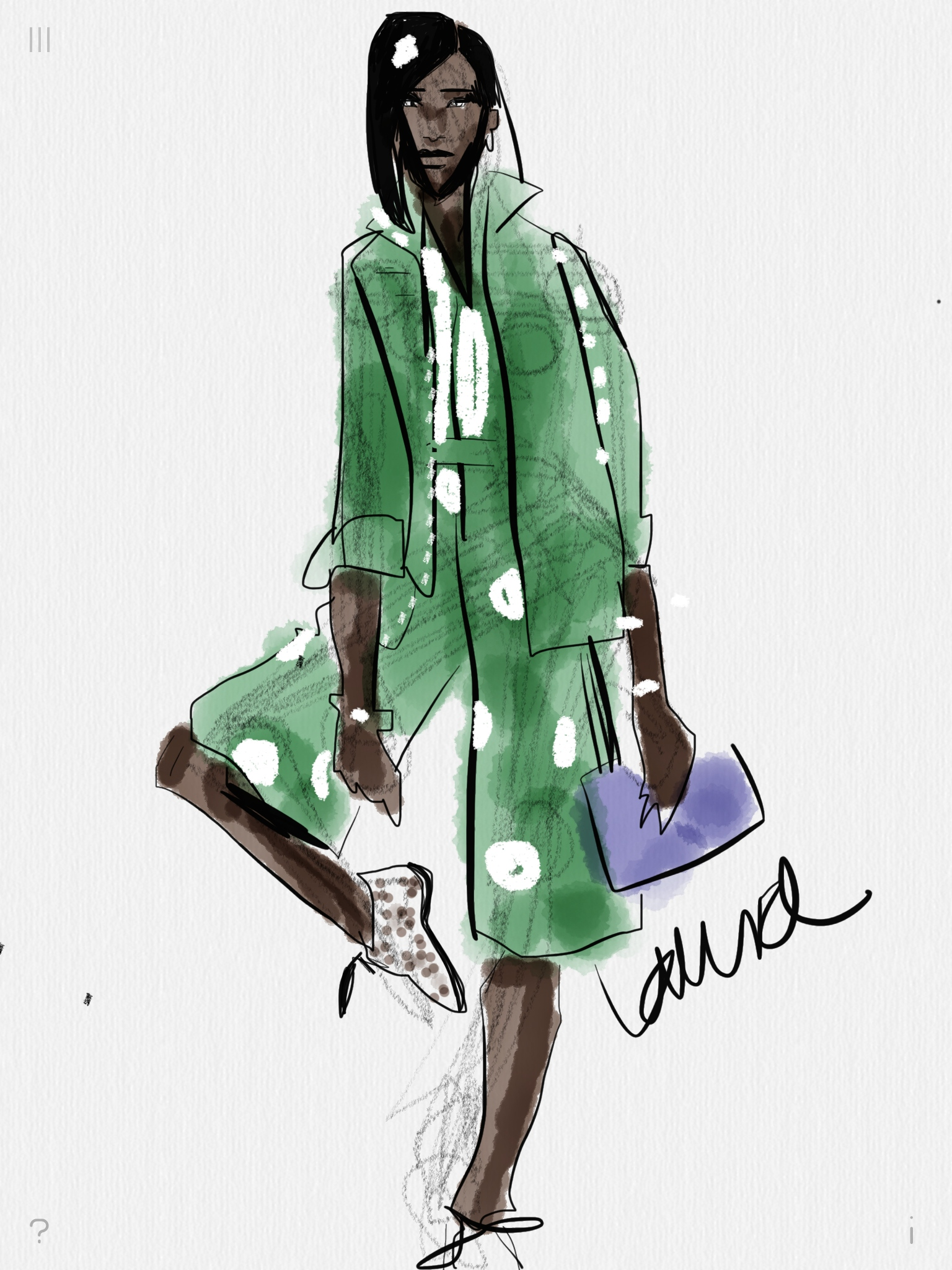 Digital Fashion Sketching With Tayasui Sketches App On