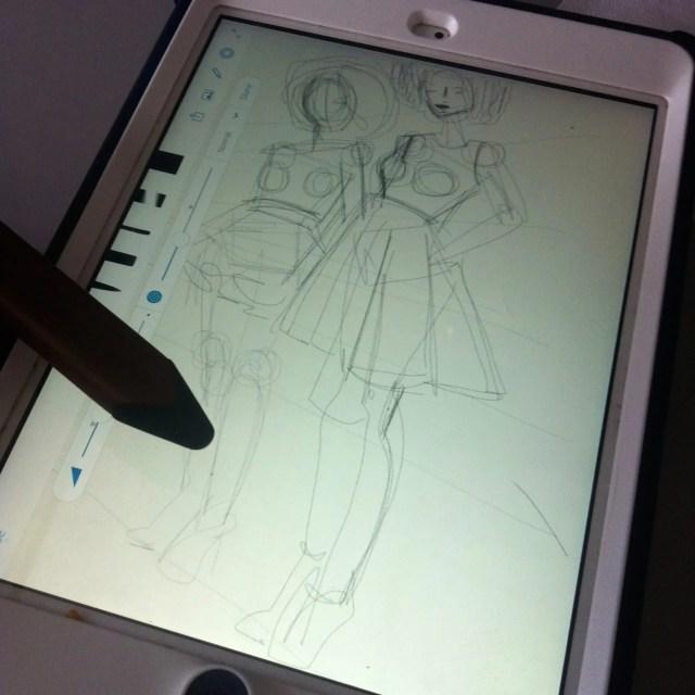 Laura Volpintesta: Digital Fashion Sketching on the iPad