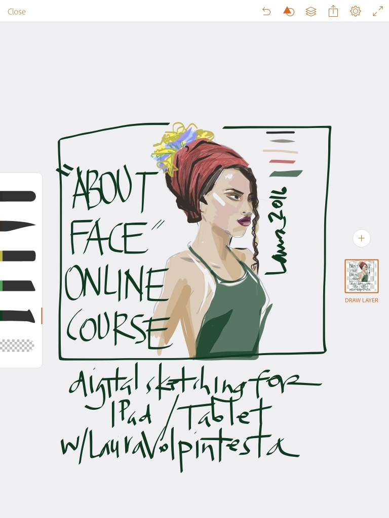 digital fashion art course teaches painting apps for faces