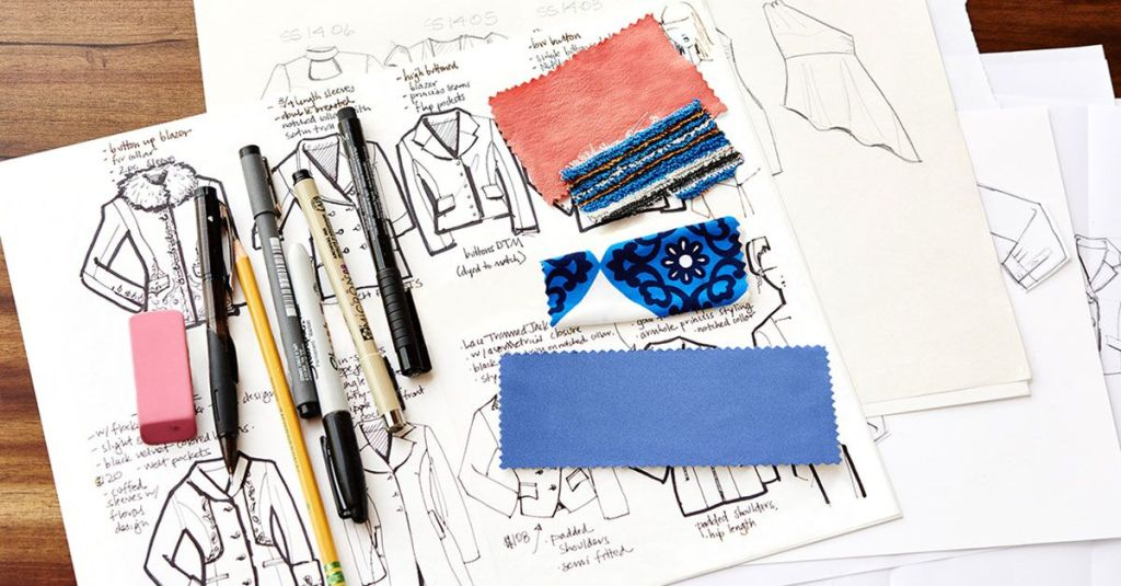 Fashion Designing with flats