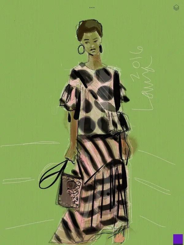 Apps for fashion illustration Tayasui Sketches by Laura Volpintesta Stella McCartney