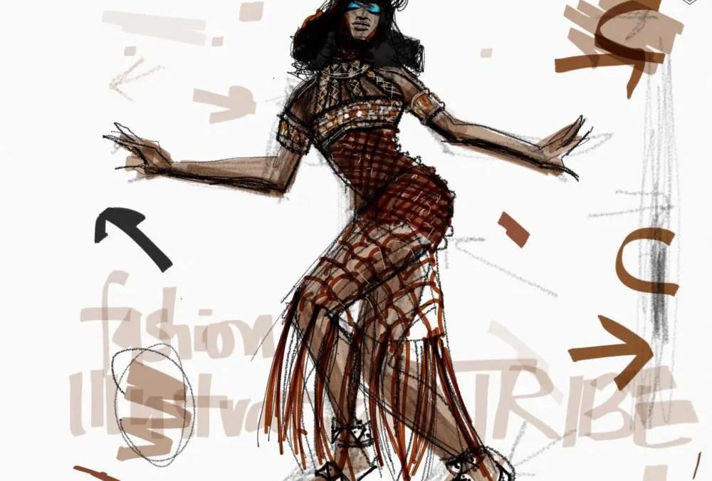 Tayasui Sketches App Fashion Illustration