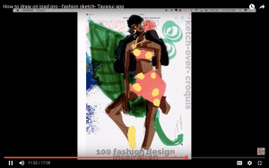 Laura Volpintesta Fashion Illustration How to draw fashion on the Ipad Pro Tayasui