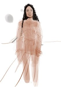 Procreate app fashion illustration Laura Volpintesta