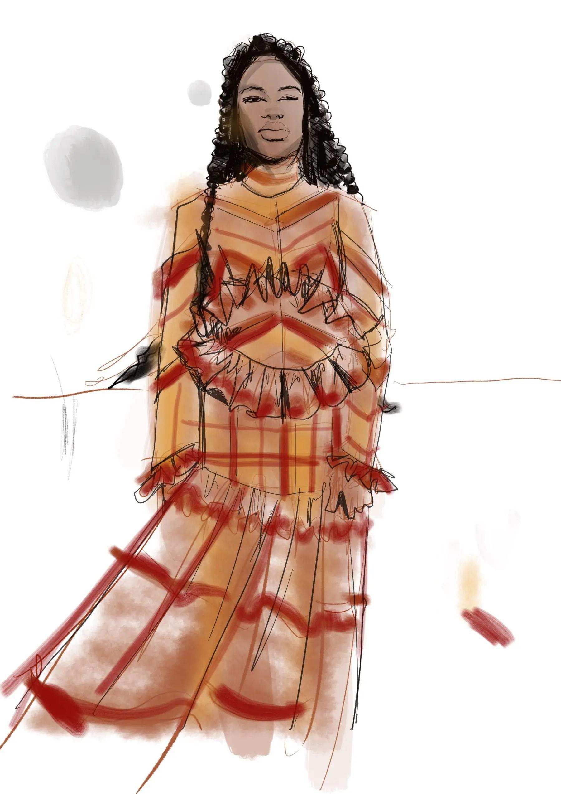 Procreate app fashion illustration