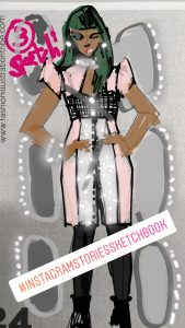 Fashion Illustration in Instagram Stories Tools by Laura Volpintesta, Fashion Illustration Tribe