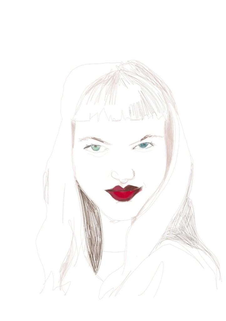 Digital Drawing with Imagink app: fashion illustration by LauraVolpintesta