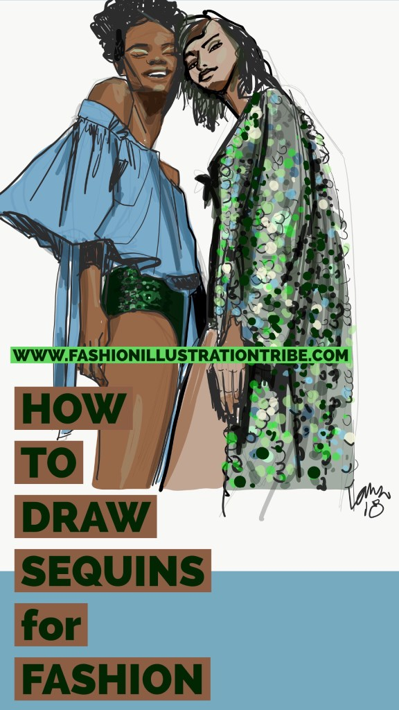 How To Draw Sequins For Fashion Illustration On Ipad