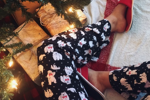 MERRY CHRISTMAS! by Fashion in Flight pajamas pjs pyjamas polar bear pants slippers scarf christmas tree sectional map aviation theme gifts victorias secret simple short post thank you fashion beauty lifestyle blog by ashleigh jean lopes colorado springs colorado denver blogger