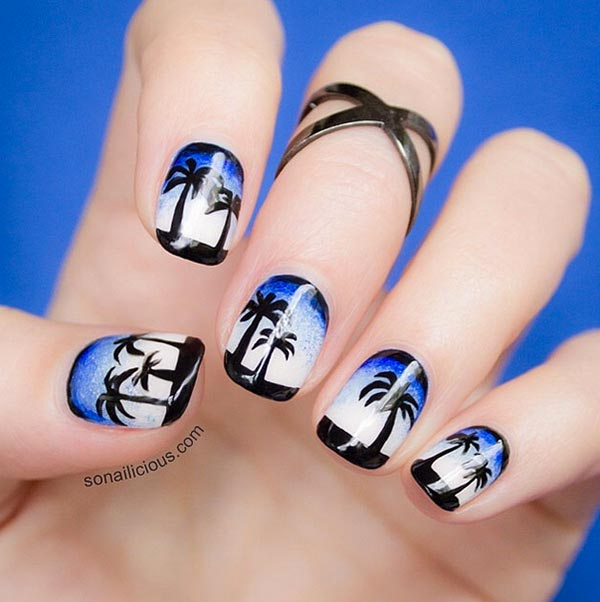 And Voila You Have A Funky Attractive Nail Art For Your Short Nails Here Is How It Looks Hope Will Surely Try This Design Don T