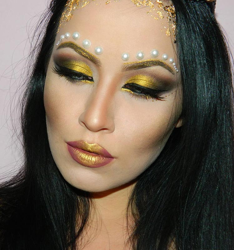 Greek Golden Goddess Halloween Makeup Tutorial