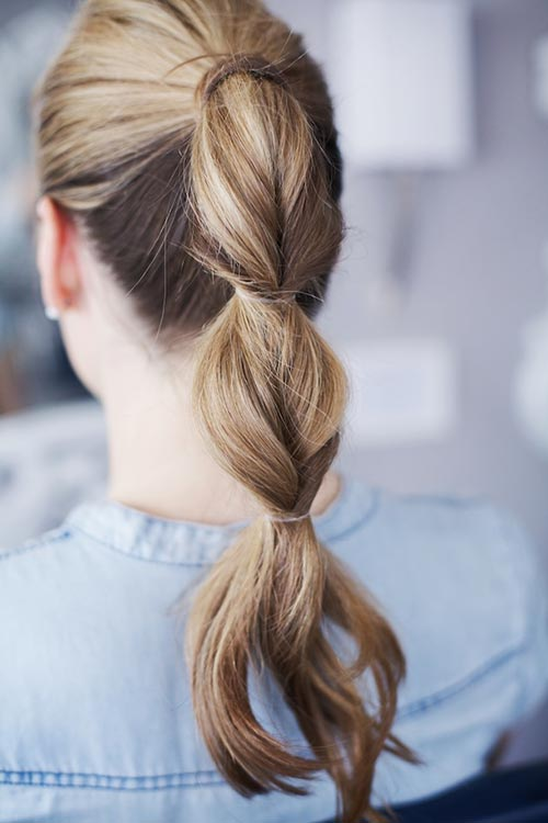 8 Easy and Cute Hairstyles for Lazy Girls: Bubble Ponytail
