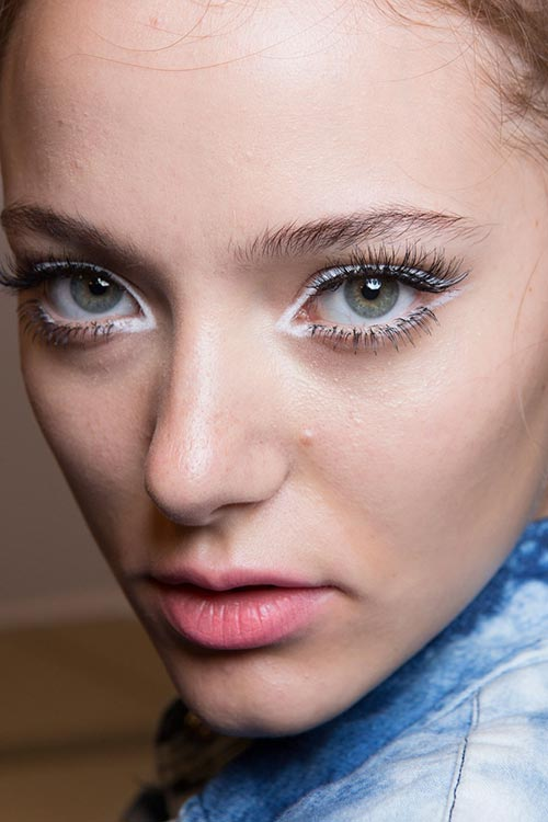 Spring 2015 Sixties Twiggy Makeup Trend: Nanette Lepore