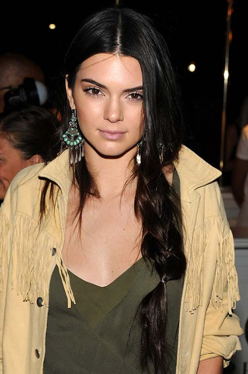 20 Stylish Ways to Wear Center Part Hairstyles: Kendall Jenner
