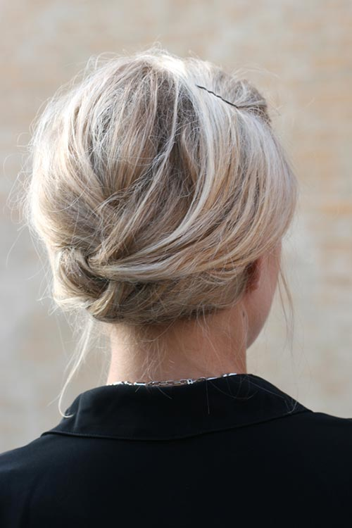 Updo Hairstyles for Short Hair: French Braid