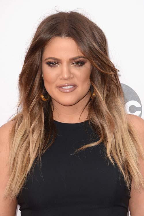 Pretty Holiday Hairstyles to Meet 2015 In Style: Ombre Hair - Khloe Kardashian