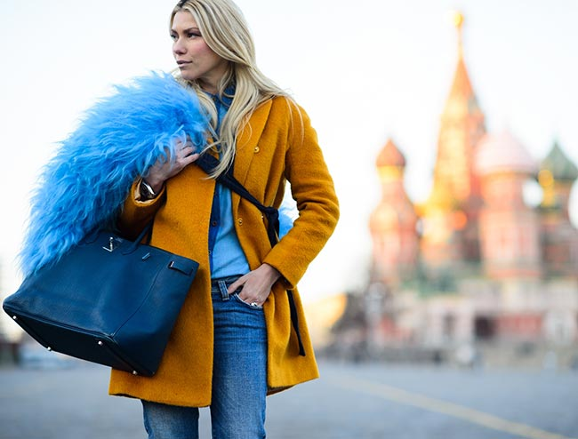 9 Ways to Wear Colorful Fur In Winter
