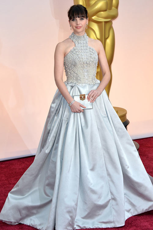 2015 Oscars Red Carpet Fashion: Felicity Jones