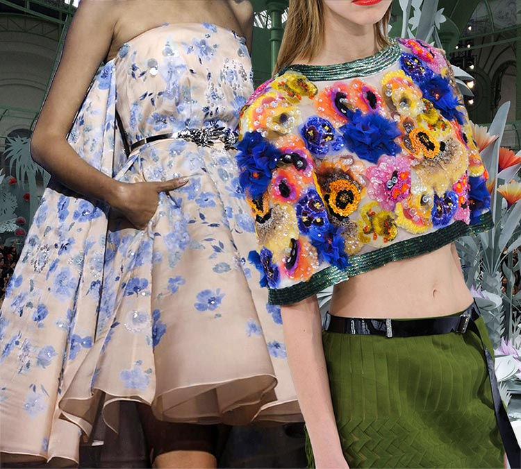 The Spring 2015 Floral Couture Trend