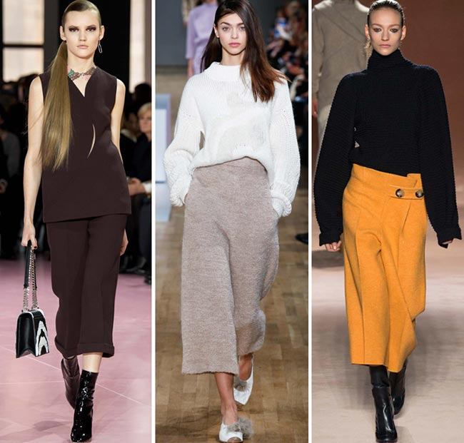 Fall/ Winter 2015-2016 Fashion Trends: Culottes