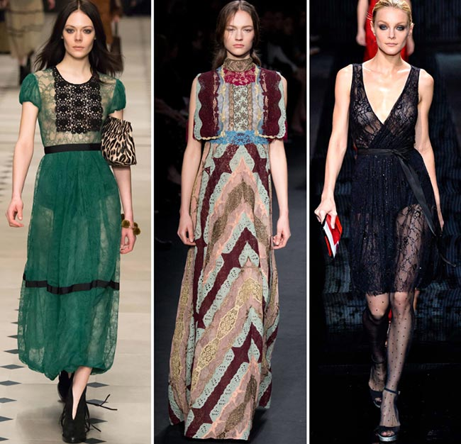 Fall/ Winter 2015-2016 Fashion Trends: Lace