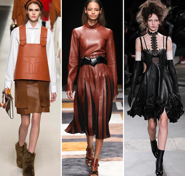 Fall/ Winter 2015-2016 Fashion Trends: Leather