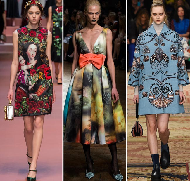 Fall/ Winter 2015-2016 Print Trends: Artistic Abstract Patterns