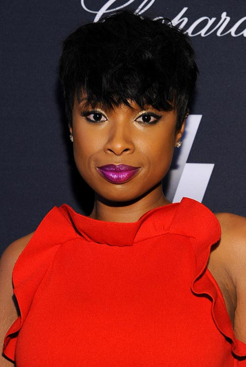Short Hairstyle Ideas: Jennifer Hudson Short Hair With Bangs