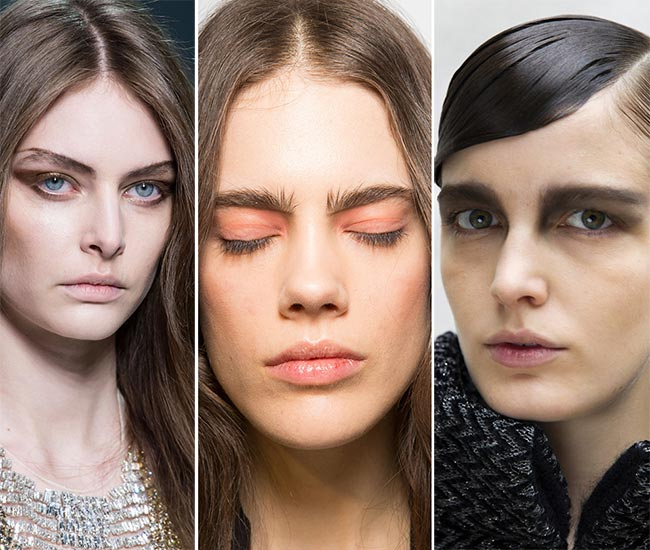 Fall/ Winter 2015-2016 Makeup Trends: Extended Drawn Eyebrows