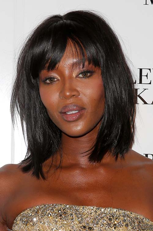 10 Shoulder-Length Layered Hairstyles: Naomi Campbell