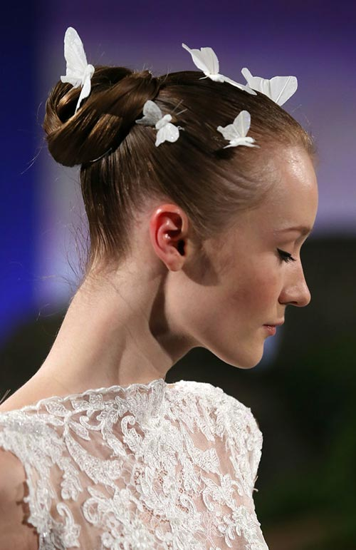 Spring 2016 Bridal Hairstyles and Beauty: Ines Di Santo