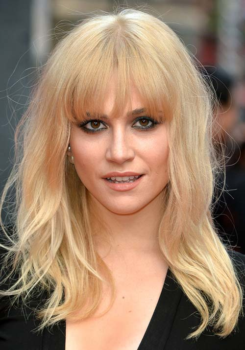 1970s Hairstyles With Bangs: Pixie Lott