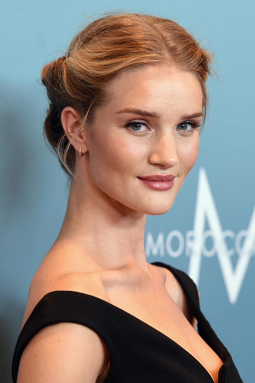 10 Retro Updo Hairstyles: Rosie-Huntington Whiteley