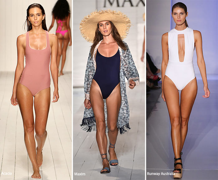 Spring/ Summer 2016 Swimwear Trends: Monochrome Swimsuits