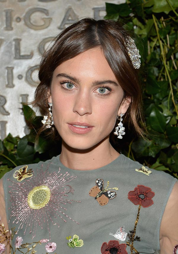 2015 Holiday Party Hairstyles: Alexa Chung
